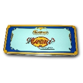 Metal case with 11 almond nougat (torrone)