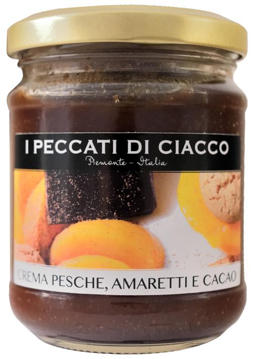 Peach-amaretti-cocoa-cream - I Peccati Di Ciacco